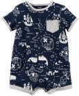Carter's Map-Print Cotton Romper, Baby Boys (