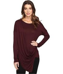 Culture Phit Blithe Long Sleeve Drape-Front Top