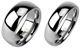 Men's Traditional Wedding Bands in Tungsten and Ti