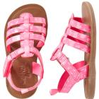 OshKosh Pink Splatter Sandals