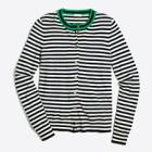 Tipped stripe Caryn cardigan sweater