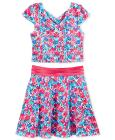 Blush by Us Angels 2-Pc. Floral Top & Skirt Set, B