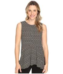 Vince Camuto Sleeveless Deco Layer Dots Ruffle Fro