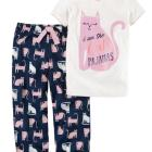 2-Piece Cotton & Jersey PJs