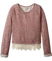 Lucky Brand Kids Popover Top with Lace Trim and Lu