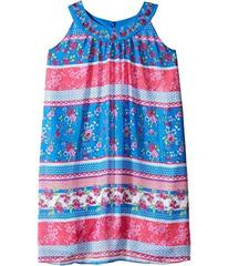 Us Angels Georgette Sleeveless Print Trapeze Dress