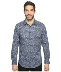 Perry Ellis Long Sleeve Abstract Floral Print Shir