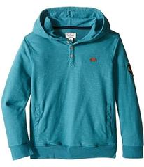 Lucky Brand French Terry Hoodie w/ Button Front an