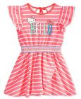 Hello Kitty Graphic Striped Cotton Dress, Toddler