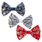 Red, White, and Blue Paisley Bandana Mini Bow Hair