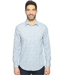 Perry Ellis Long Sleeve Graphic Linear Print Shirt