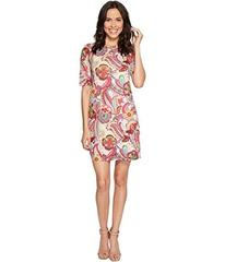 Nally & Millie Paisley Printed Elbow Sleeve Dress