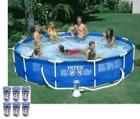 "Intex 12' x 30"" Metal Frame Set Swimming Pool w/ 5"