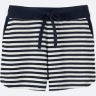 WOMEN AIRism PILE LINED LOUNGE SHORTS (STRIPE)
