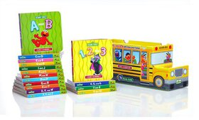 Sesame Street ABCs and 123s 16-Book Bus