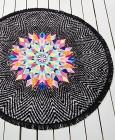 Bar III Feathered Daze Round Beach Towel, Created