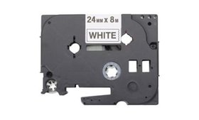 Brother HGE2515PK Black on White Label Tapes