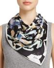Echo Folklore Paisley Silk Square Scarf - 100% Exc