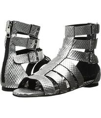 Just Cavalli Python Leather Sandal