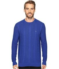 Lacoste Long Sleeve Resort Cotton Cable Crew Neck