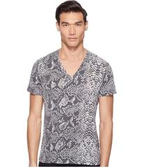 Just Cavalli Snakeskin Print V-Neck T-Shirt