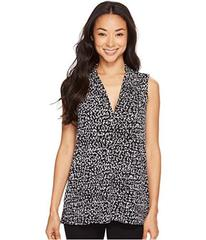 Vince Camuto Sleeveless Fluttering Notes V-Neck To
