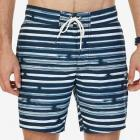 Quick Dry Striped Swim Trunk