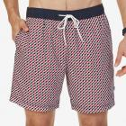 Quick Dry Geo Print Swim Trunk