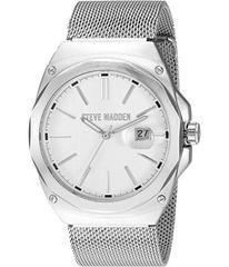 Steve Madden Steel Mesh Band Watch