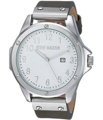 Steve Madden Minimal Leather Watch