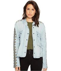 Free People Embroidered Chambray Jacket