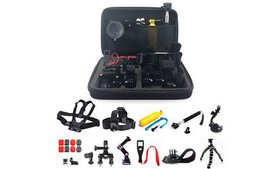 GoPro Hero Mount Accessory Kit for 1/2/3/3+/4/5 Ca on sale at Groupon.com