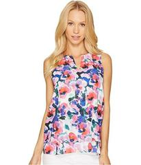 Tahari by ASL Sleeveless V-Neck Floral Print Blous