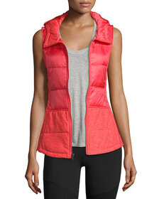 The North Face Pseudio Puffer Hooded Tunic Vest, C
