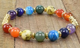 Genuine Gemstone Healing Chakra Beaded Bracelets b