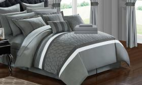 Chic Home Topaz Complete Bedroom-in-a-Bag Comforte