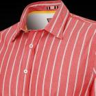 Red and Grey Casual Hamm Stripe Men's Shirt - Butt