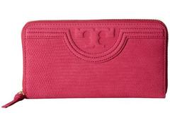 Tory Burch Fleming Snake Zip Continental Wallet
