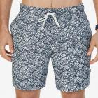 Quick Dry Leaf Print Swim Trunk