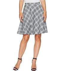 Tahari by ASL Plaid Flip Skirt
