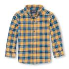 Toddler Boys Long Sleeve Plaid Oxford Button-Down