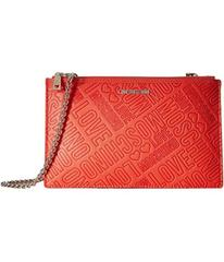 LOVE Moschino Embossed Logo Pouch Bag