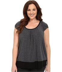 DKNY Plus Size Urban Essentials Short Sleeve Top