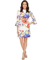 Tahari by ASL Bell Sleeve Floral Shift Dress