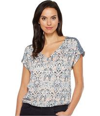 Lucky Brand V-Neck Peasant Top