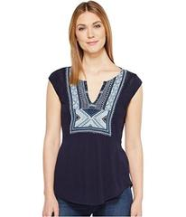 Lucky Brand Embroidered Bib Tank Top