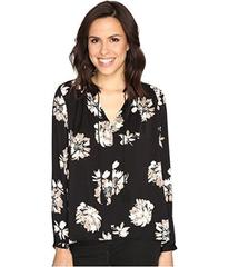 Lucky Brand Black and White Peasant Top