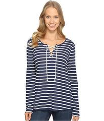NYDJ French Terry Lace-Up Top