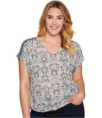 Lucky Brand Plus Size V-Neck Peasant Top