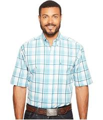 Stetson 0820 Blue Springs Plaid Short Sleeve Butto